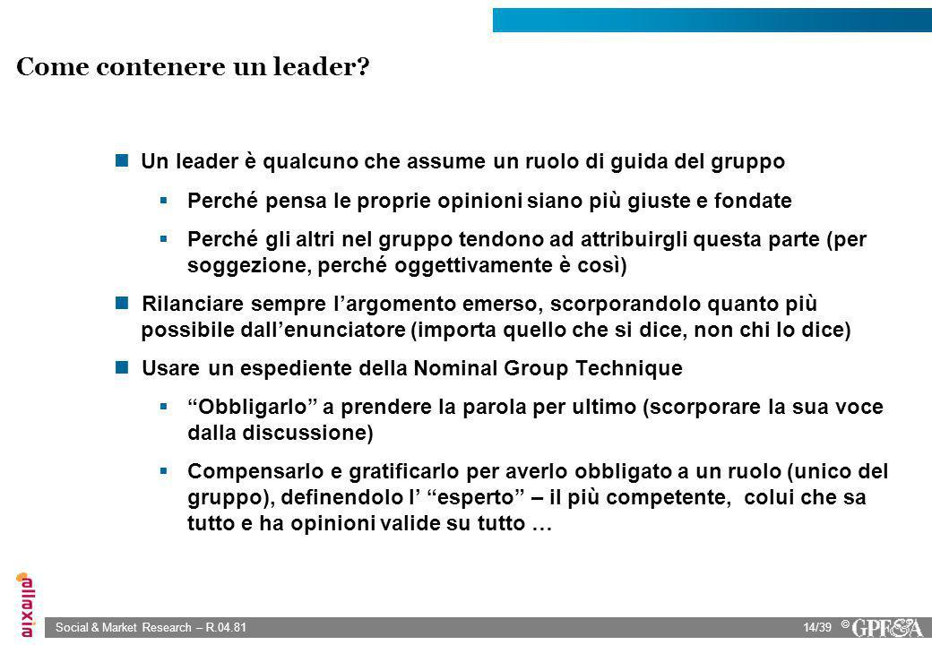 Come contenere un leader