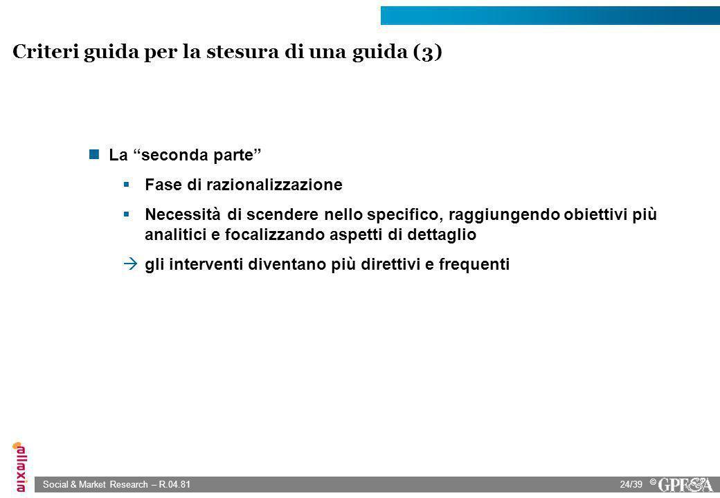 Criteri guida per la stesura di una guida (3)