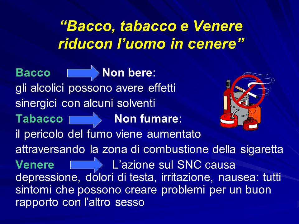 Bacco, tabacco e Venere riducon l'uomo in cenere