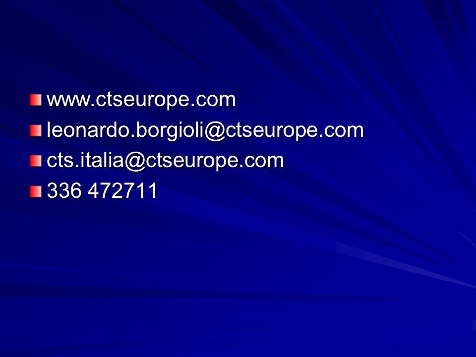 www.ctseurope.com leonardo.borgioli@ctseurope.com cts.italia@ctseurope.com 336 472711