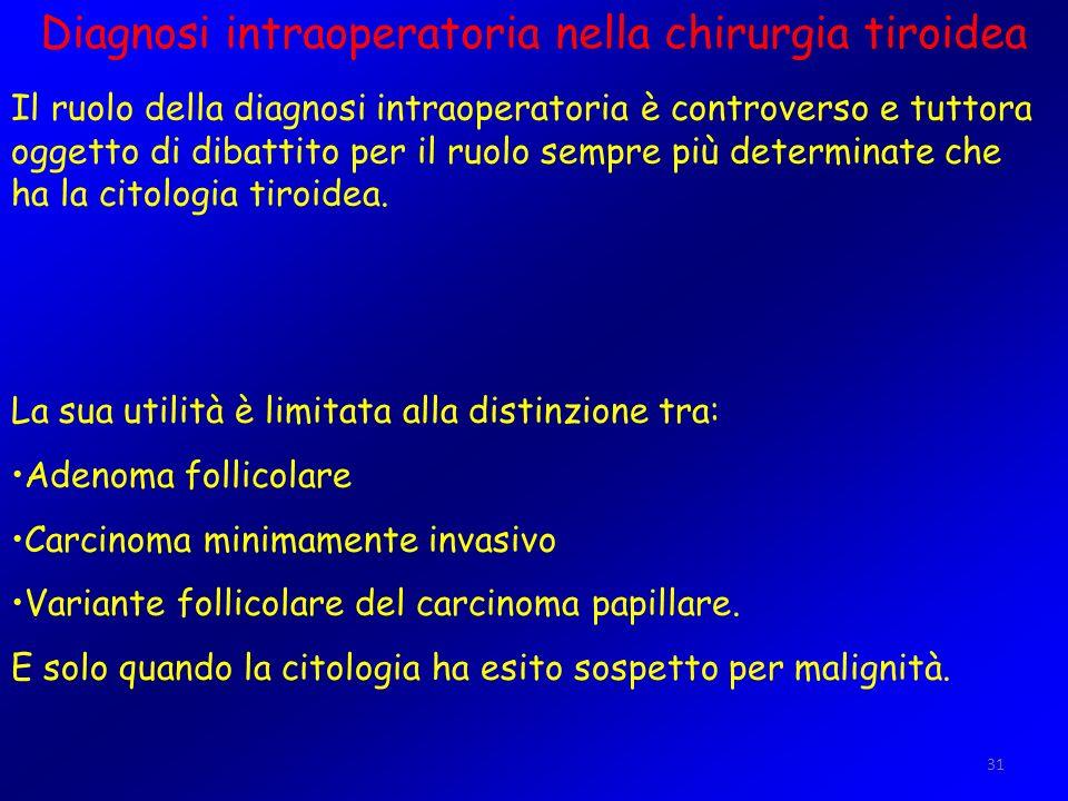 Diagnosi intraoperatoria nella chirurgia tiroidea