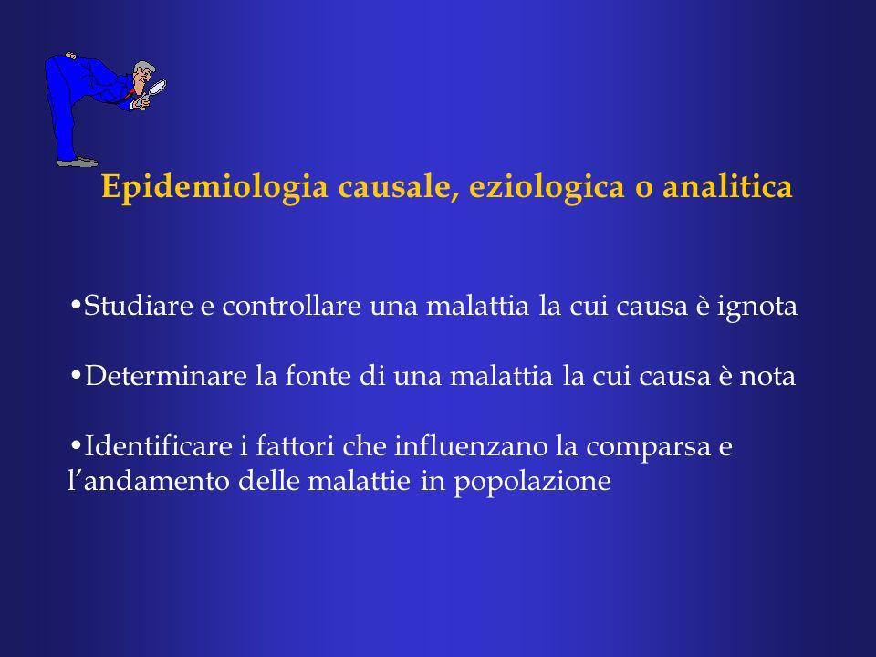Epidemiologia causale, eziologica o analitica
