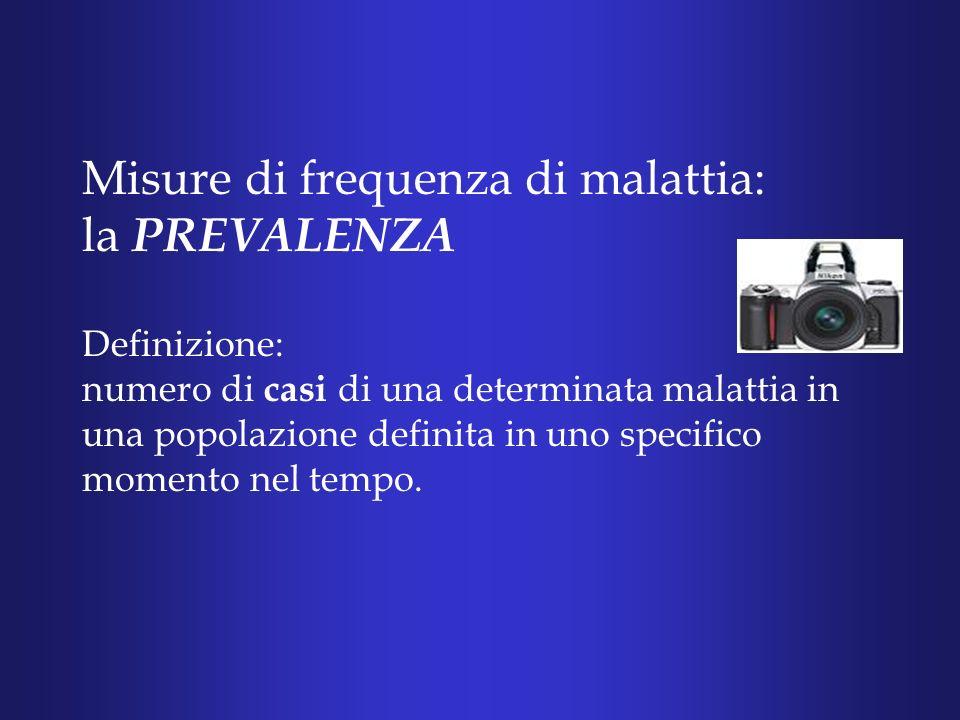 Misure di frequenza di malattia: la PREVALENZA