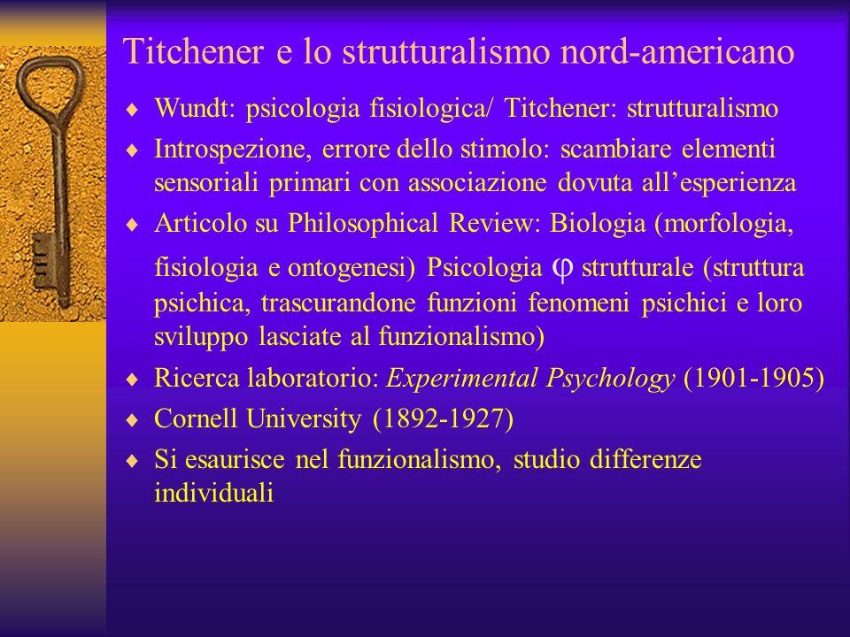 Titchener e lo strutturalismo nord-americano