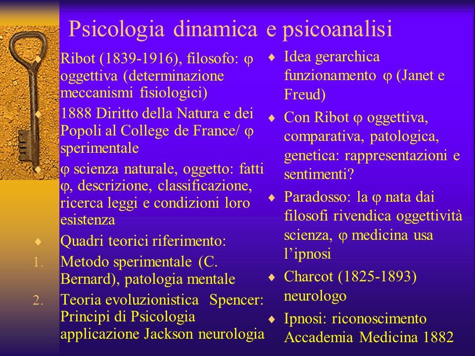 Psicologia dinamica e psicoanalisi