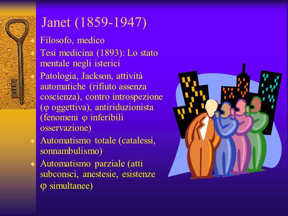 Janet (1859-1947) Filosofo, medico
