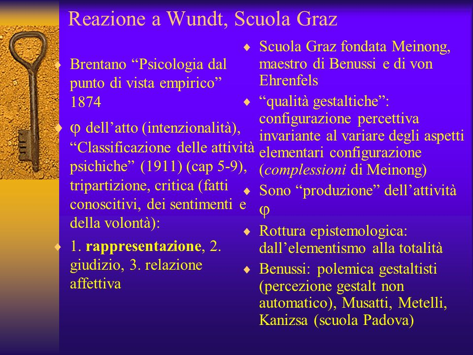 Reazione a Wundt, Scuola Graz