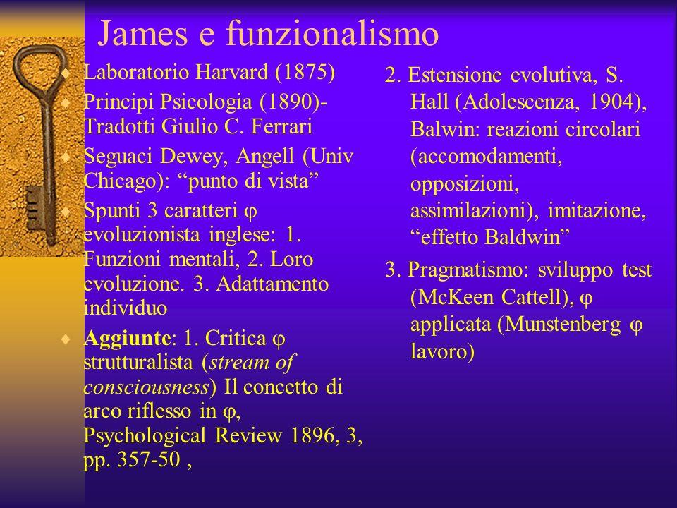 James e funzionalismo Laboratorio Harvard (1875)
