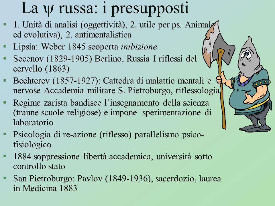 La  russa: i presupposti