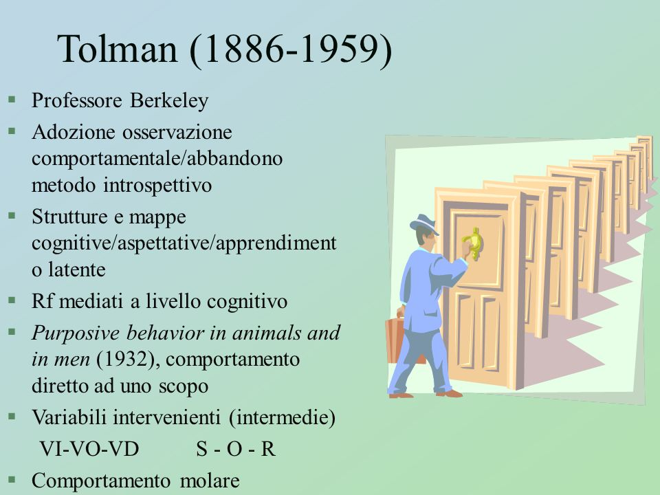 Tolman (1886-1959) Professore Berkeley