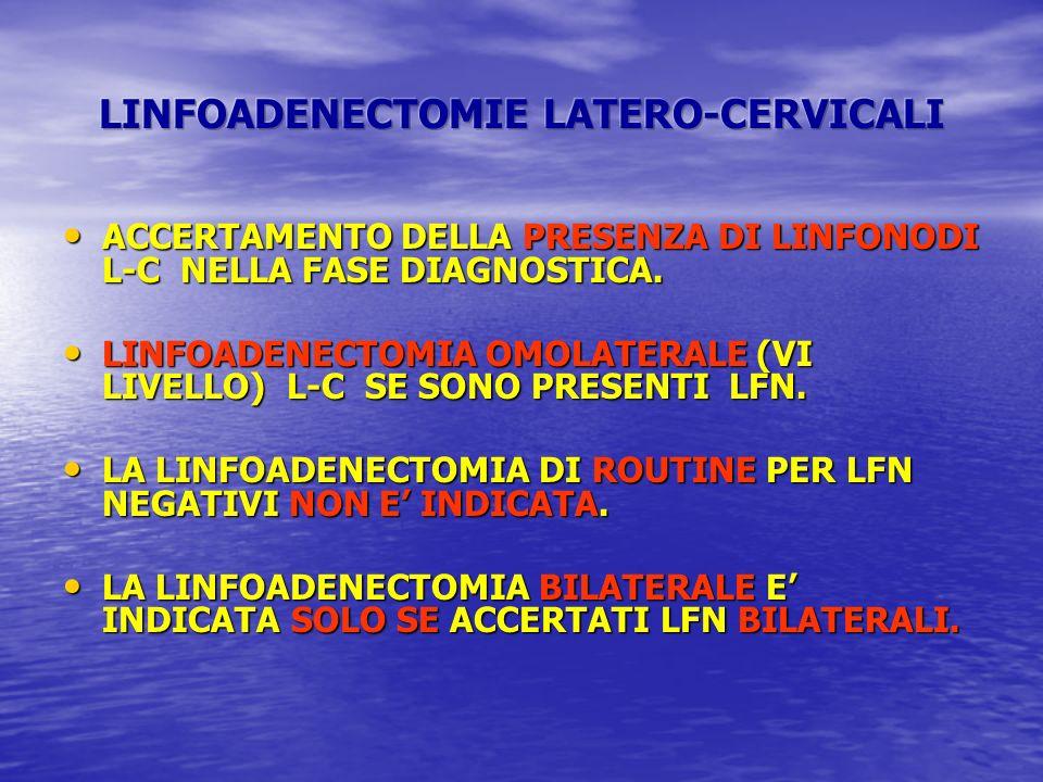 LINFOADENECTOMIE LATERO-CERVICALI