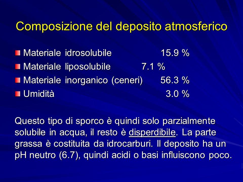 Composizione del deposito atmosferico