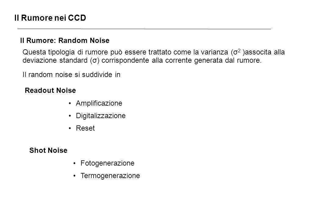 Il Rumore nei CCD Il Rumore: Random Noise