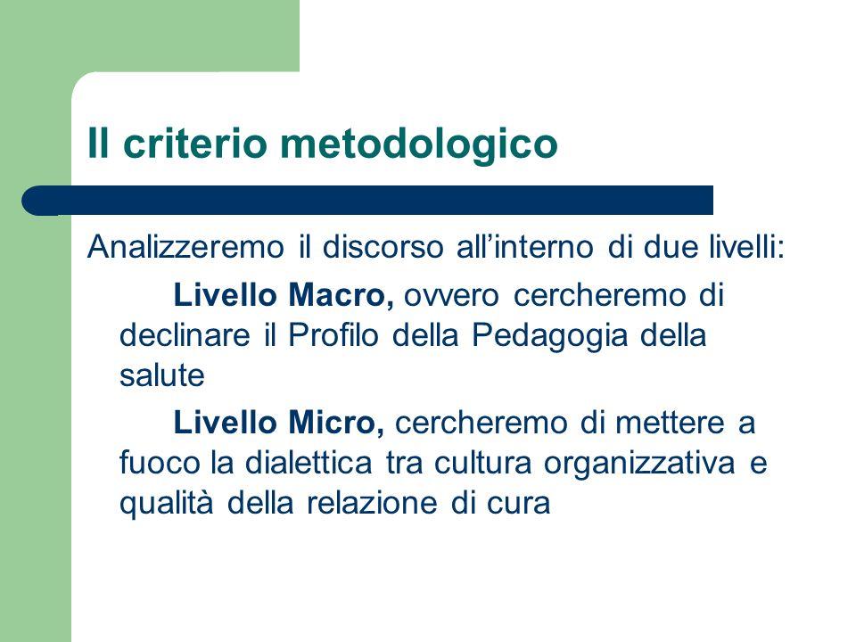 Il criterio metodologico