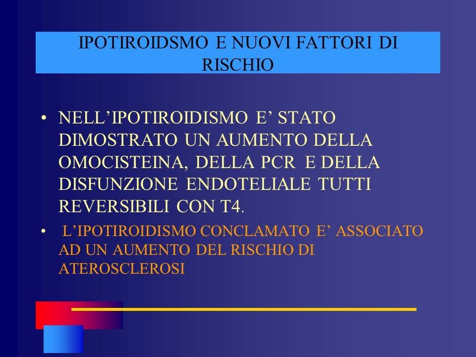 IPOTIROIDSMO E NUOVI FATTORI DI RISCHIO