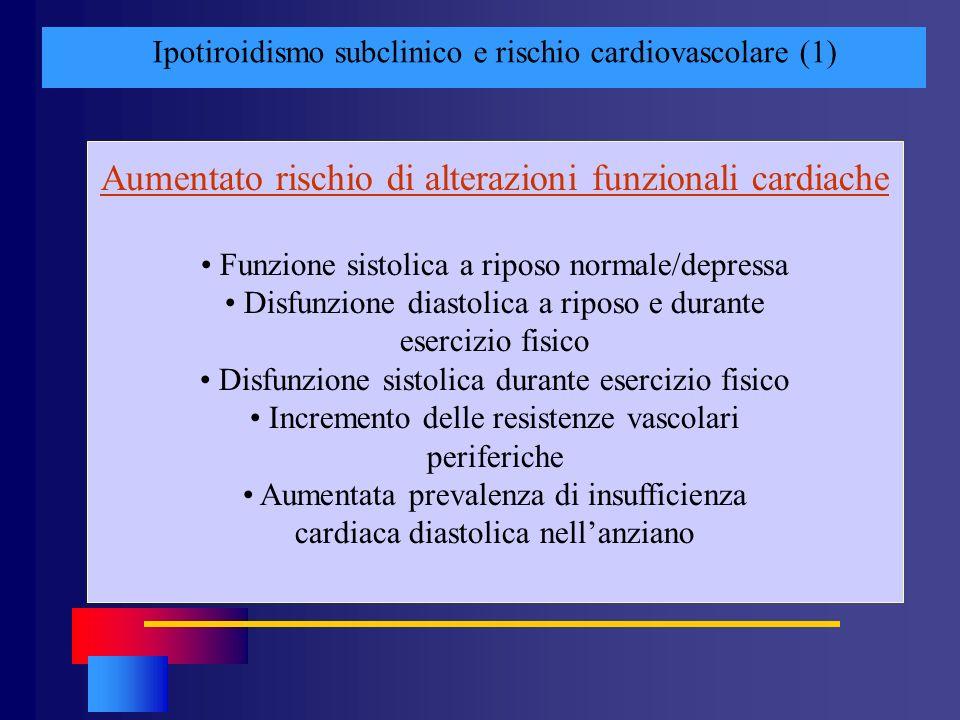 Aumentato rischio di alterazioni funzionali cardiache