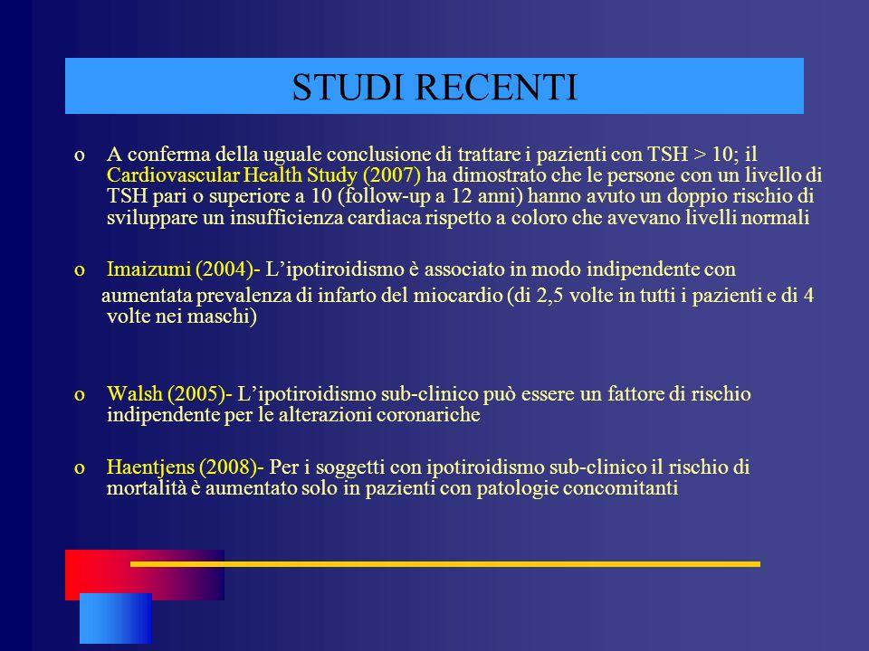 STUDI RECENTI