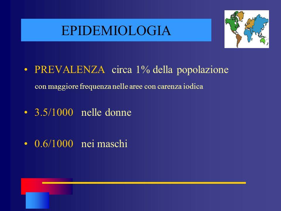 EPIDEMIOLOGIA PREVALENZA circa 1% della popolazione