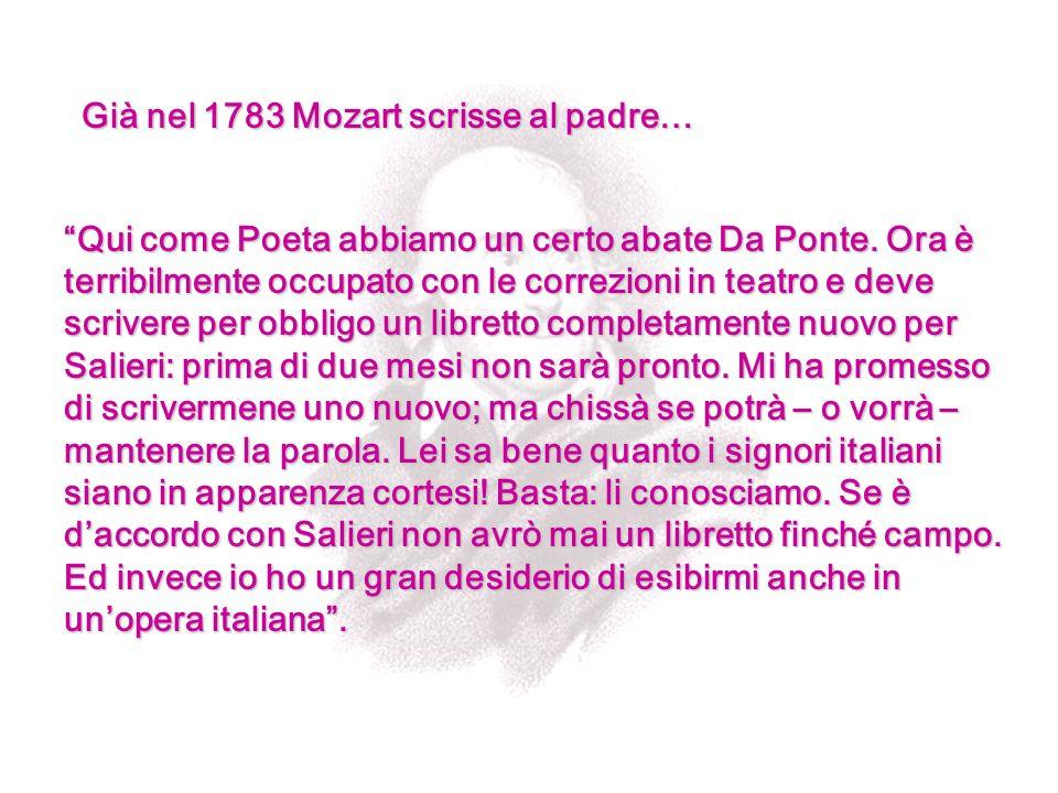 Già nel 1783 Mozart scrisse al padre…