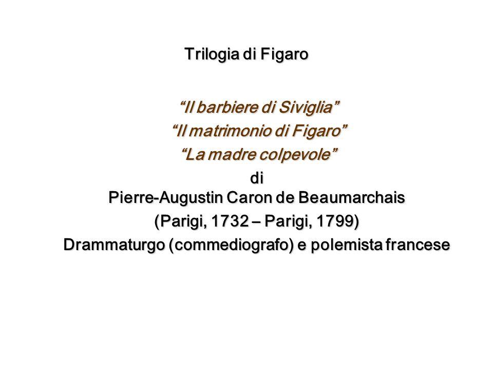 Il barbiere di Siviglia Il matrimonio di Figaro