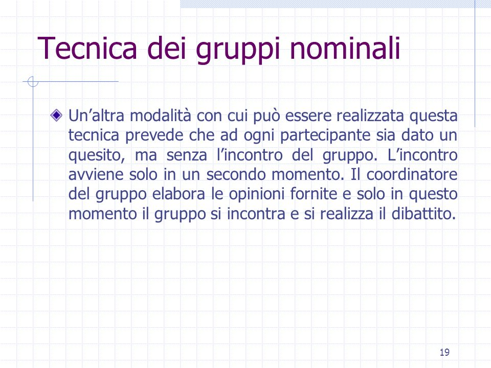 Tecnica dei gruppi nominali