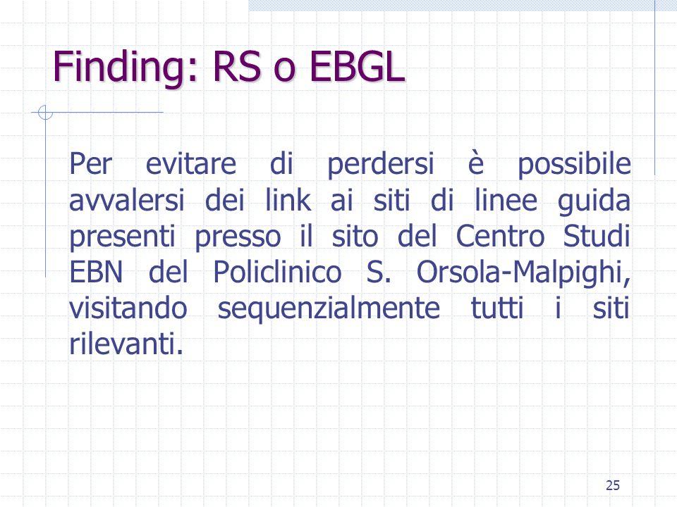 Finding: RS o EBGL