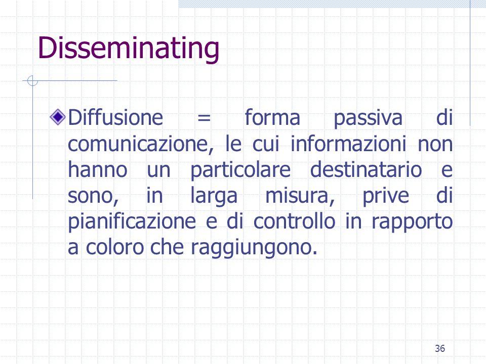 Disseminating