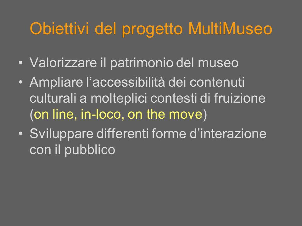 Obiettivi del progetto MultiMuseo