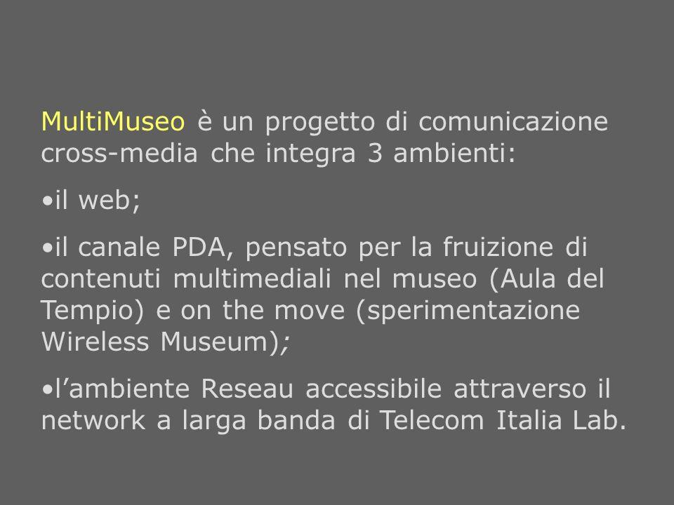 MultiMuseo è un progetto di comunicazione cross-media che integra 3 ambienti: