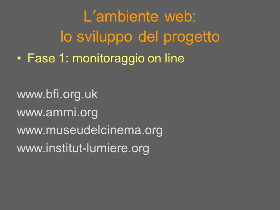 L'ambiente web: lo sviluppo del progetto