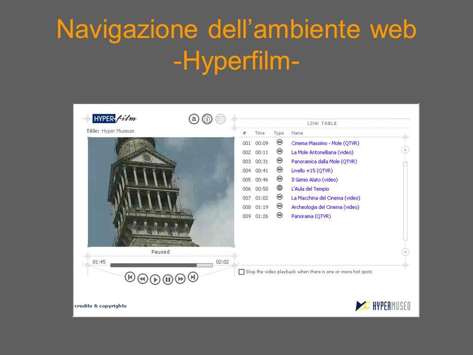 Navigazione dell'ambiente web -Hyperfilm-