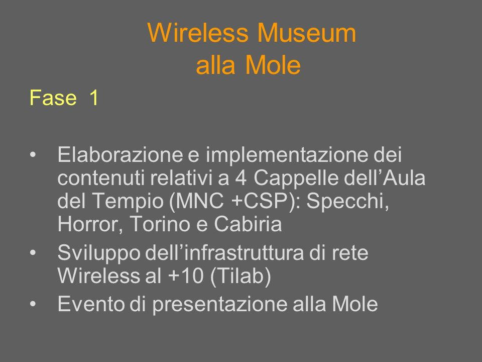 Wireless Museum alla Mole