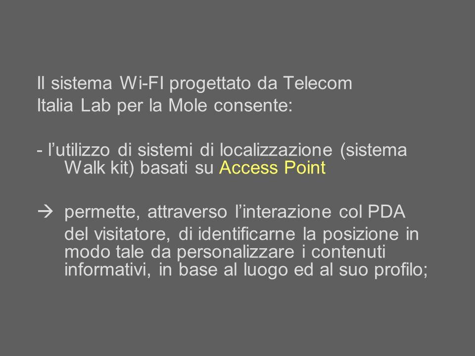 Il sistema Wi-FI progettato da Telecom