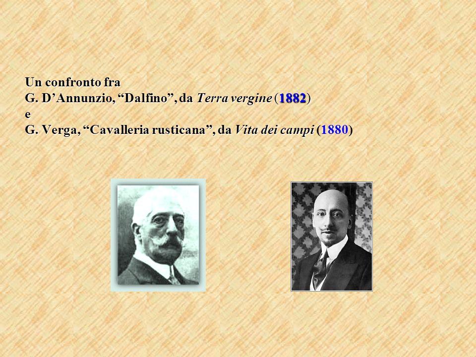 Un confronto fra G. D'Annunzio, Dalfino , da Terra vergine (1882) e G
