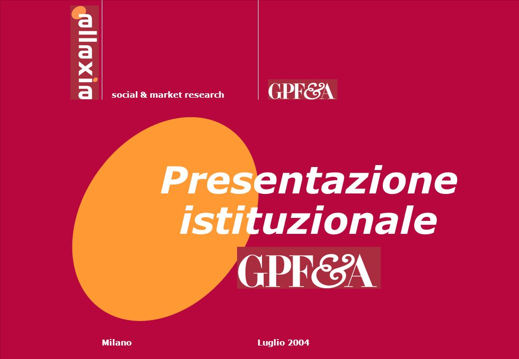 Presentazione istituzionale