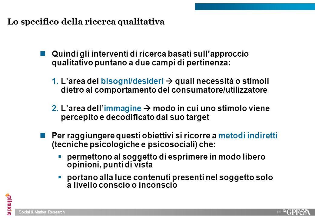 Lo specifico della ricerca qualitativa