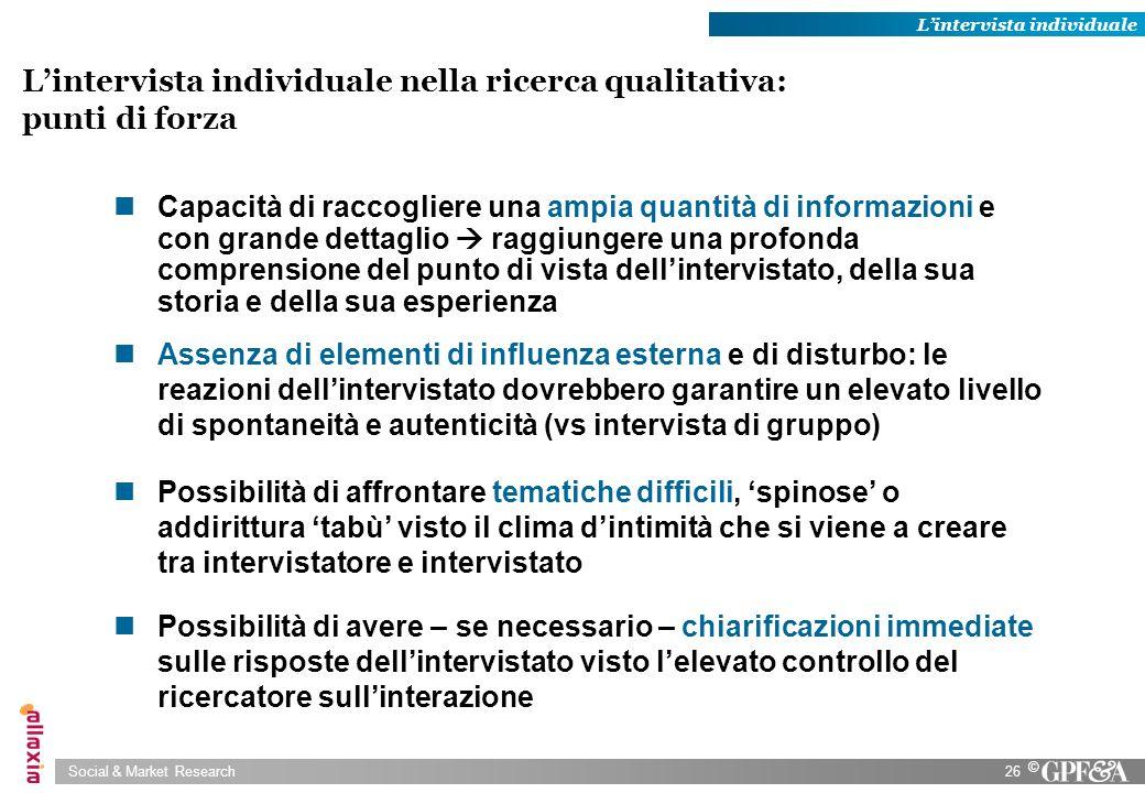 L'intervista individuale nella ricerca qualitativa: punti di forza