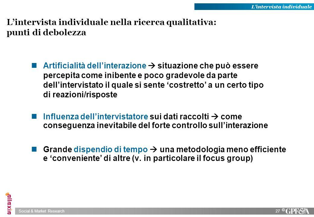 L'intervista individuale nella ricerca qualitativa: punti di debolezza