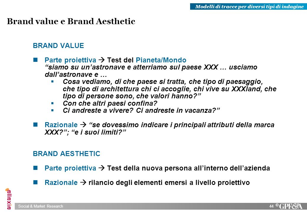 Brand value e Brand Aesthetic