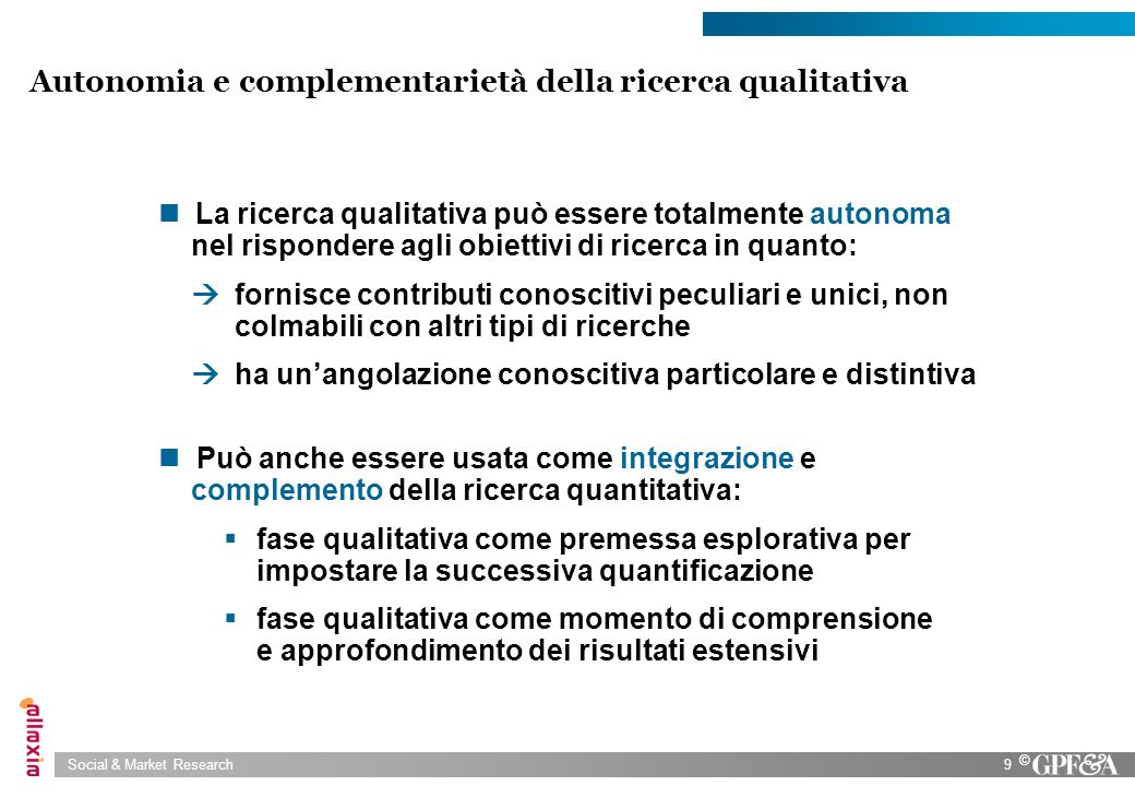 Autonomia e complementarietà della ricerca qualitativa