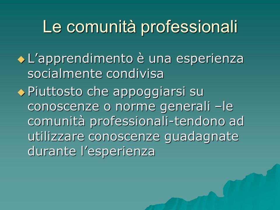 Le comunità professionali