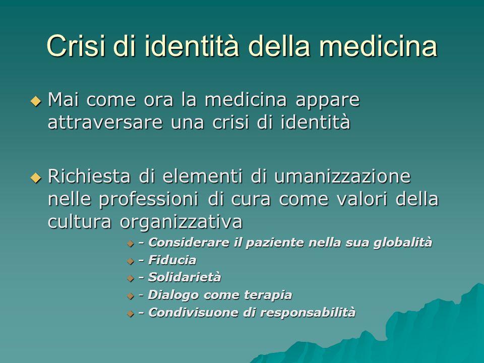 Crisi di identità della medicina