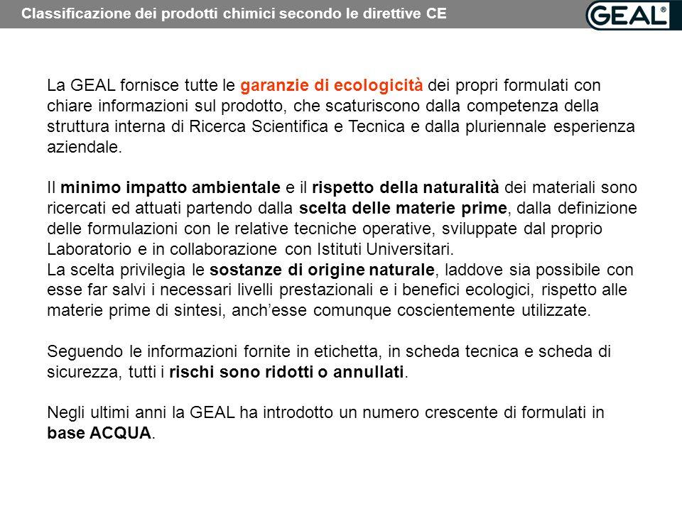 Classificazione dei prodotti chimici secondo le direttive CE
