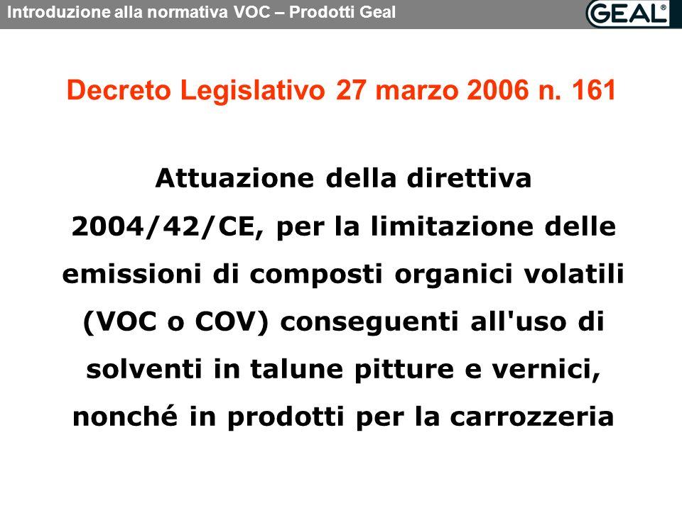 Decreto Legislativo 27 marzo 2006 n. 161
