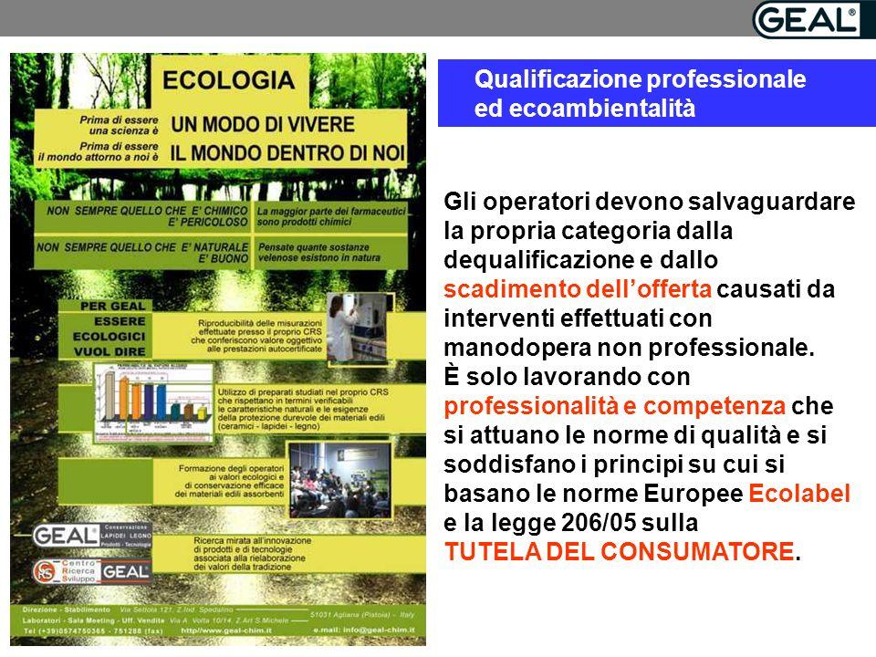 Qualificazione professionale ed ecoambientalità