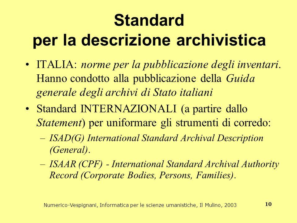 Standard per la descrizione archivistica