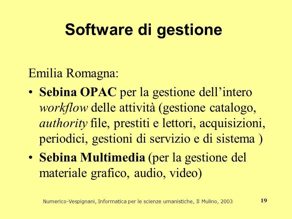 Software di gestione Emilia Romagna: