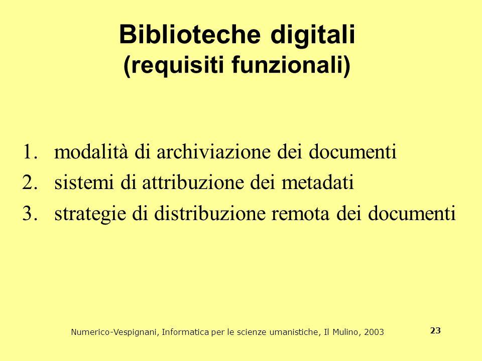 Biblioteche digitali (requisiti funzionali)