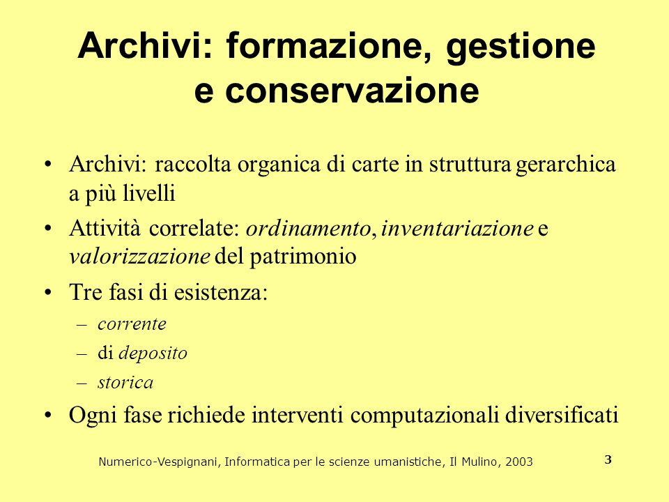 Archivi: formazione, gestione e conservazione