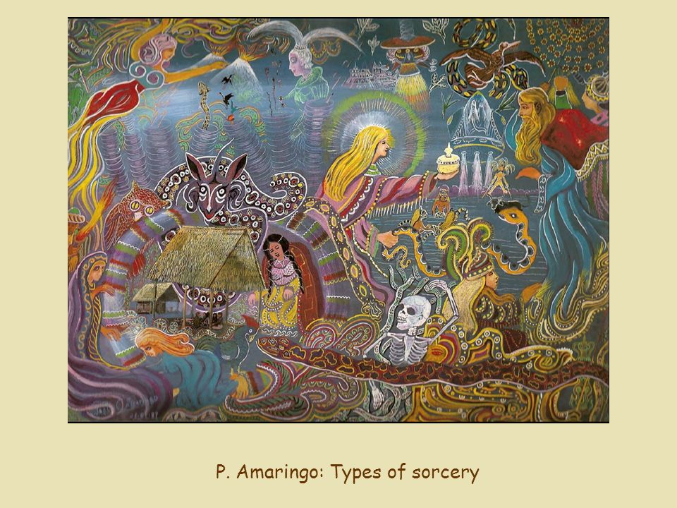 P. Amaringo: Types of sorcery